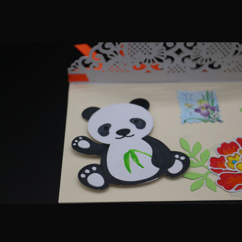 Cute Baby Panda Metal Cutting Dies Stencil Birthday Card Making