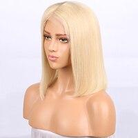 Hotlove 613 боб парик натуральные волосы Искусственные парики для женщин 150% плотность Реми бразильский Прямо кружево с ребенком волос отбеленны