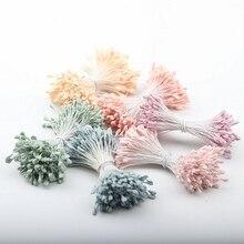 360PCS/Lot Artificial Flowers Plastic 6 Colors Handmade Home Wedding Party Decoration Fake Stamen DIY Flower 19618