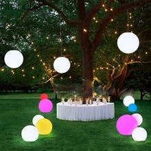 купить RGB LED Garden Light Outdoor Waterproof Colorful Lawn Lamp Landscape Garden Lighting Rechargeable Remote Ball Night Light IP68 по цене 985.98 рублей