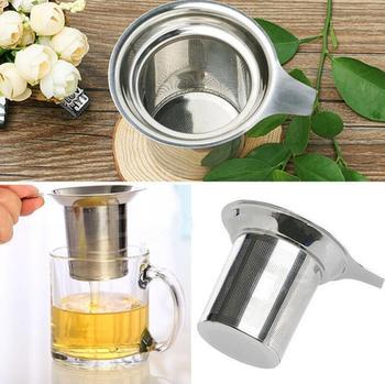 Mesh Tea Infuser Reusable Tea Strainer Stainless Steel Loose Tea Leaf Spice Filter Drinkware Kitchen Accessories LX4711