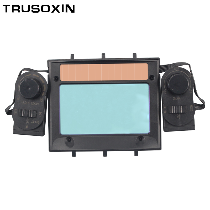 New DIN5 DIN13 shading eara out control Solar auto darkening TIG MIG MMA welding mask 39 s filter lens glasses in Welding Helmets from Tools