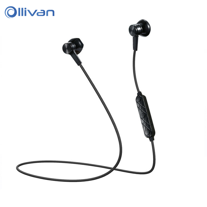 OLLIVAN Sports In Ear Earphone Wireless Bluetooth Headphone V4.1 Stereo Noise Reduction Headset Earbuds with Mic for Smart Phone