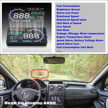 Car Information Projector Screen For Renault Duster / Dacia Duster 2010~2014 - Driving Refkecting Windshield HUD Head Up Display