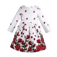 Baby Girls Dress Embroidery Rhinestone 2015 Winter Dress Girl Half Sleeve Brand Kids Dresses For Girls