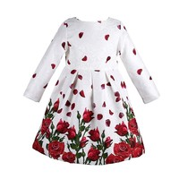 Baby Girls Dress Embroidery Rhinestone 2015 Winter Dress Girl Half Sleeve Brand Kids Dresses For Girls