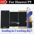 """Alta qualidade da tela de toque do painel de toque digitador + display lcd de substituição para huawei p9 5.2 """"Smartphone Black White Presentes de Ouro"""