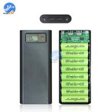8x18650 Batterie Ladegerät Box Power Bank Halter Fall Dual USB LCD Digital Display 8*18650 Batterie Shell lagerung Organisieren DIY