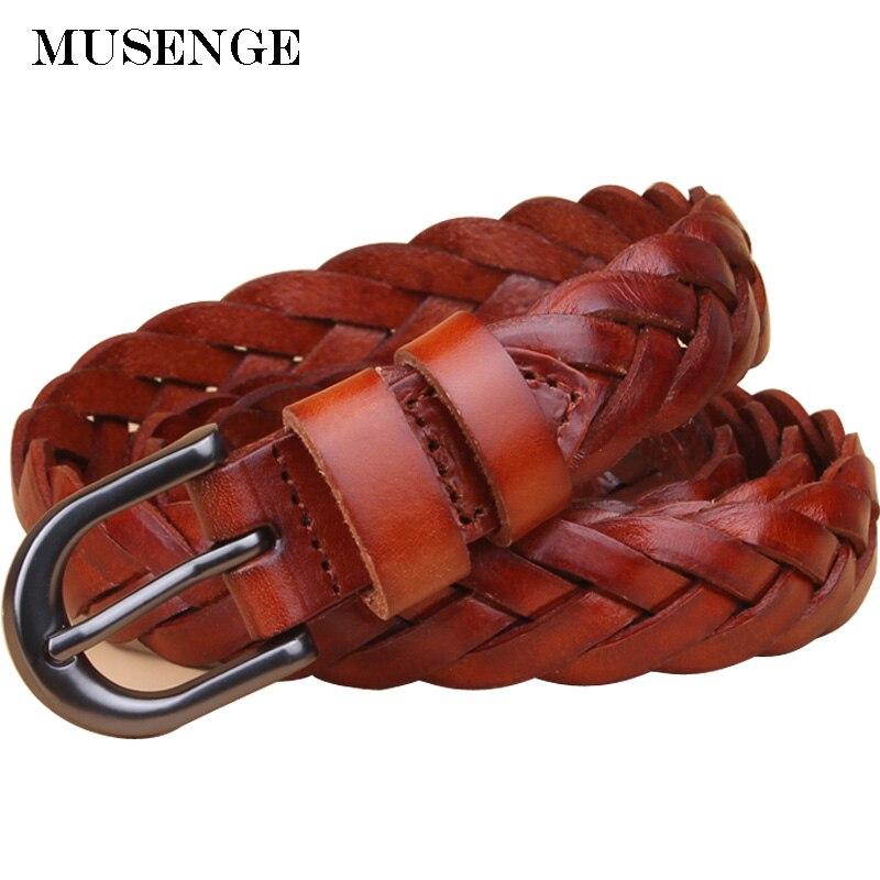 Diseñador del cuero genuino Cinturón trenzado cinturón mujer vintage cinturones para las mujeres ceinture femme cinto feminino