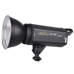 NiceFoto gy-1200w flash lamp photography light studio flash shooting light background light