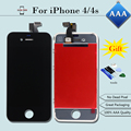 AAA Quality For iPhone 4/4s  LCD Display Touch Screen Digitizer Assembly Replacement+Opening Tool Kits+Tempered Glass+Free Ship
