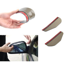 цена на Rear Mirror Rain Board Eyebrow Visor Shade Shield Water Guard For Car Truck