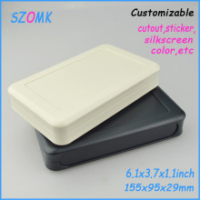 4 pieces/lot, szomk electronics project box handheld instrument enclosure plasic housing enclosure 155*95*29mm