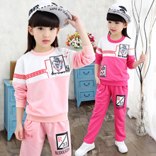 Baby Girl Clothes 2-13years Girl Pattern Blouse And Pant Active Girls Uniform 2Pcs Set Patchwork Baby Girl Cotton Clothing Set
