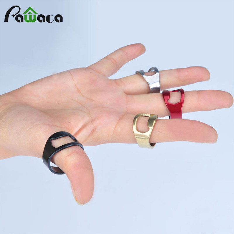 Creative Stainless Steel Beer Openers Finger Ring Ring-Shape Beer Bottle Opener Versatile Kitchen Bar Tools