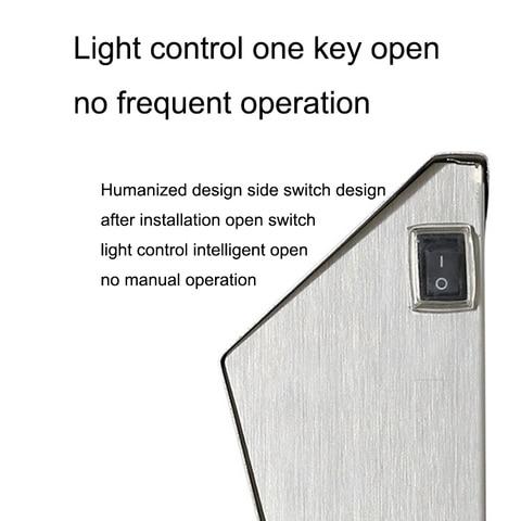 energia solar luz 3 leds iluminacao doorplate