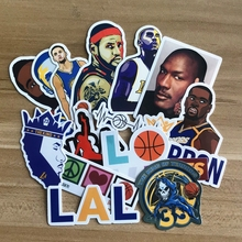 17pcs basketball Stickers superstar LeBron James Kobe Bryant sticker Waterproof PVC For phone decorations  Laptop Notebook
