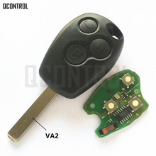 QCONTROL Car Door Lock Remote Key Fit for Renault Clio Scenic Kangoo Megane 433MHz with PCF7946 / PCF7947 Chip