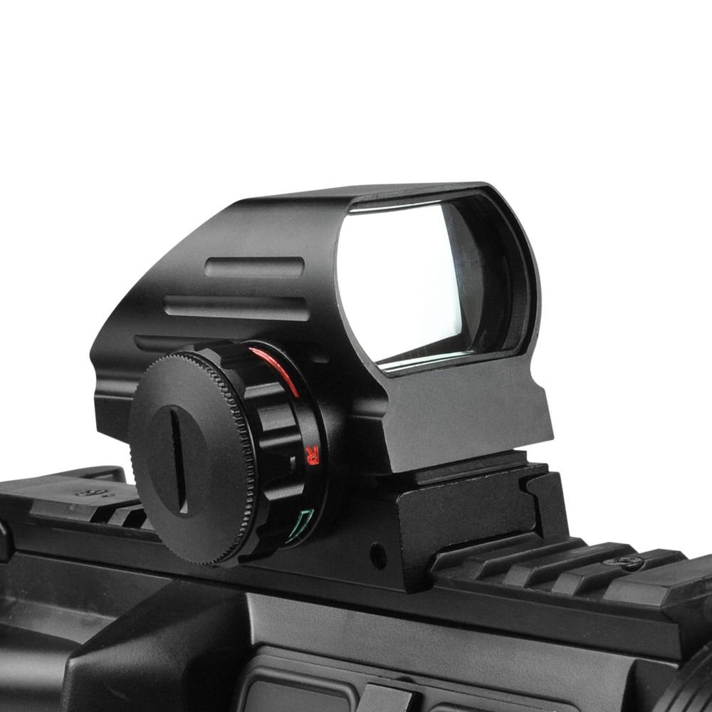 1x33mm visão óptica holográfica vermelho verde reflexo