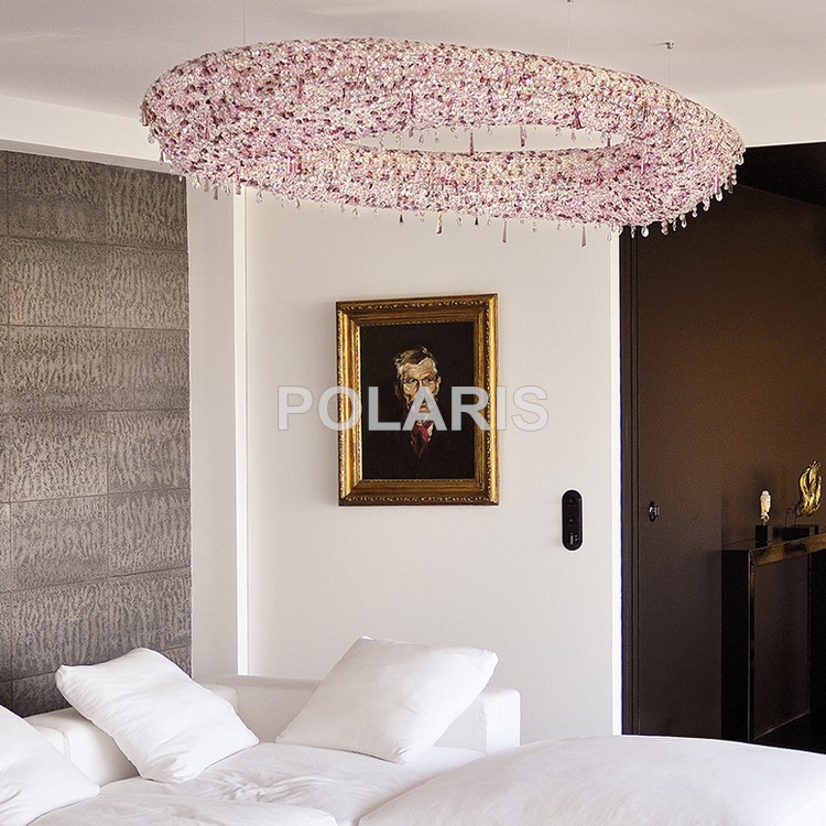 Modern luxury led lead crystal chandelier lighting large hanging modern luxury led lead crystal chandelier lighting large hanging light cristal lamps for villa dining room home hotel decoration in chandeliers from lights aloadofball Image collections