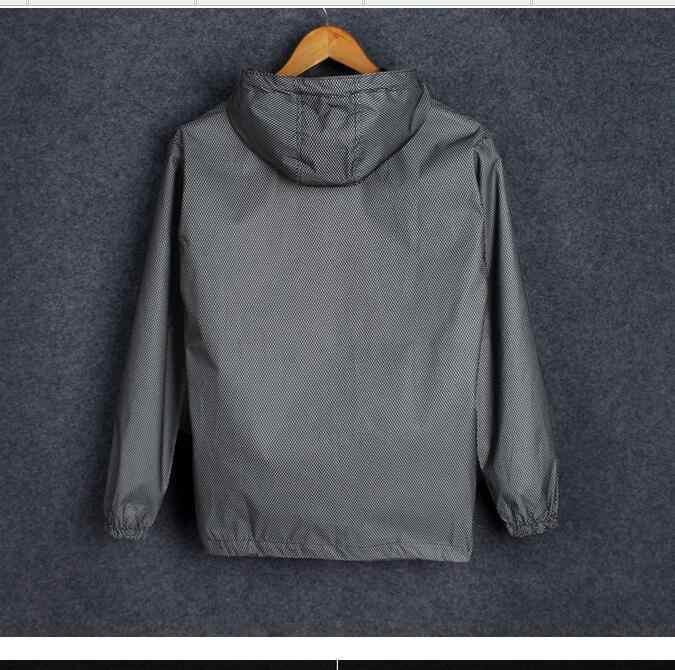 Светящаяся куртка весна осень Мужская wo Мужская Светоотражающая тонкая ветровка Защита от солнца с капюшоном бейсбольная куртка для влюбленных молния верхняя одежда