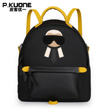 P. kuone 2017 Новая коллекция нейлон Женщины мини-рюкзак известный бренд сумка женская высокое качество школьная сумка для девочек-подростков