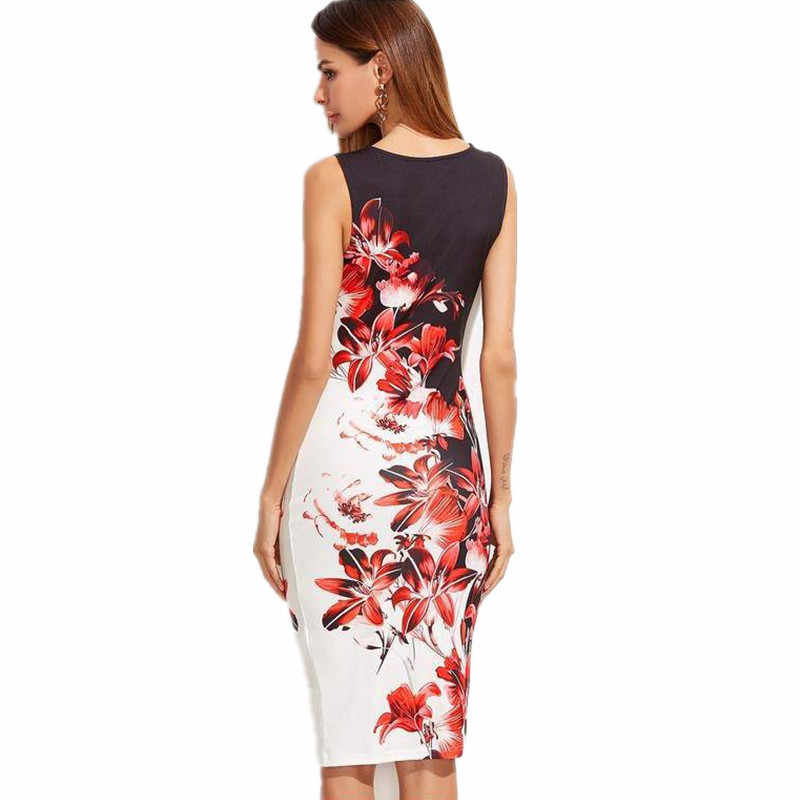 af4e7b4e20ed6 Large Size 5XL Casual Women Dress 2019 new Summer O-Neck butterfly Floral  Print Bodycon Package Hip Mini Dress Vestido Plus Size