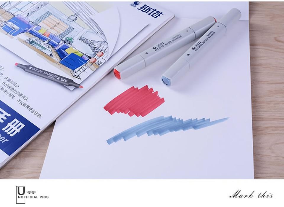 STA Marcador Pad Notebook Para Marcadores De