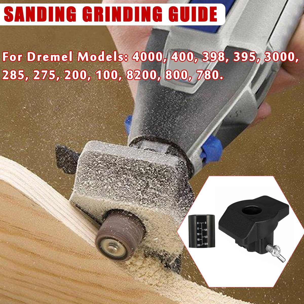 Sanding Grinding Guide Attachment Locator Positioner For Rotary Tool Drill Adapter For Dremel Models 4000 400 398 395 3000 285