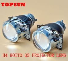 H4 Projector Lens 3 Inches for Q5 Koito Bi-xenon HID Car Styling for headlight D2R D2S D2H