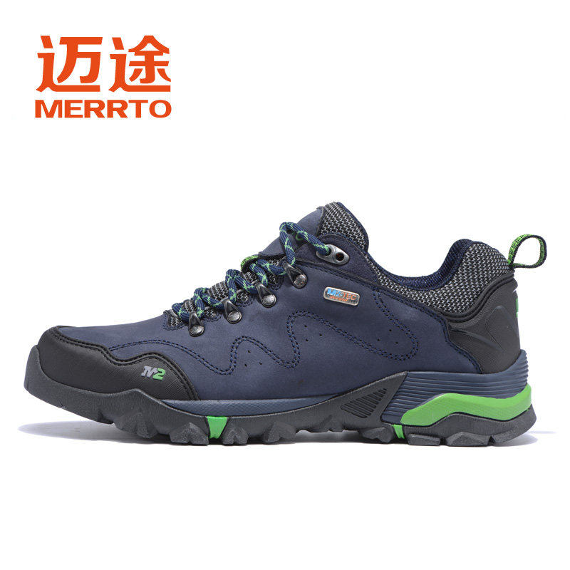 MERRTO Men's Sports Geunine Leather Outdoor Trekking Hiking Shoes Sneakers For Men Sport Wearabel Climbing Mountain Shoes Man yin qi shi man winter outdoor shoes hiking camping trip high top hiking boots cow leather durable female plush warm outdoor boot