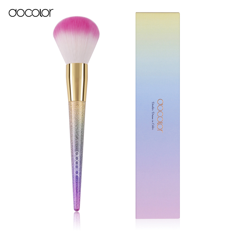 Docolor Hot Selling Professional Powder Blush Brush Facial Care Facial Beauty Cosmetics Brush Makeup Brushes new arrival wing chun butterfly knives bart cham dao wing chun swords with free shipping butterfly carving on handle with bag