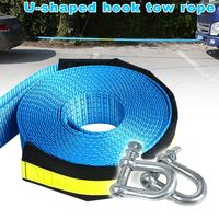 New 8T Car Towing Rope With U Shape Hooks Safety Car Emergency Helper Towing Cable Reflective Strap