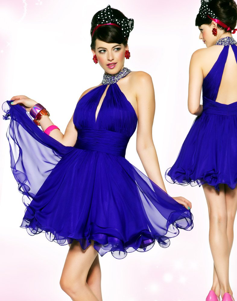 Fashion Fascinating 2012 Short Royal Blue Red Mini Sweet 16 ...