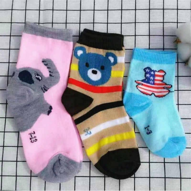 2018 nuevo 5 par/lote calcetines bonitos de dibujos animados para niños y niñas calcetines de algodón transpirables Otoño Invierno para niños 1 -13 años