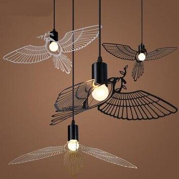 Nordic modern minimalist dining room Pendant Lights American creative personality children study Flying Bird Pendant ZA ET25