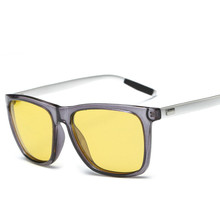 Men Women Sunglasses Unisex HD Yellow Lenses Sunglasses Night Vision Goggles Car Driving Glasses Eyewear UV Protection safurance hd lenses unisex sunglasses uv protection night vision driving glasses workplace safety glove
