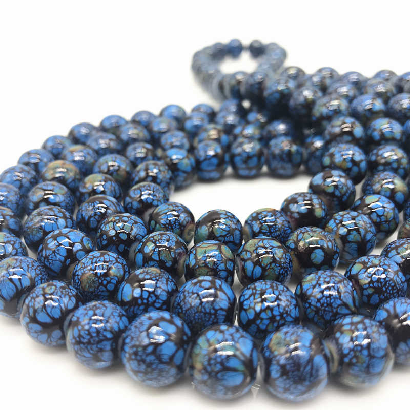 Wholesale 6 8 10 mm Glass Loose Spacer Charm Beads Pattern Making Bracelet Necklace Jewelry #07