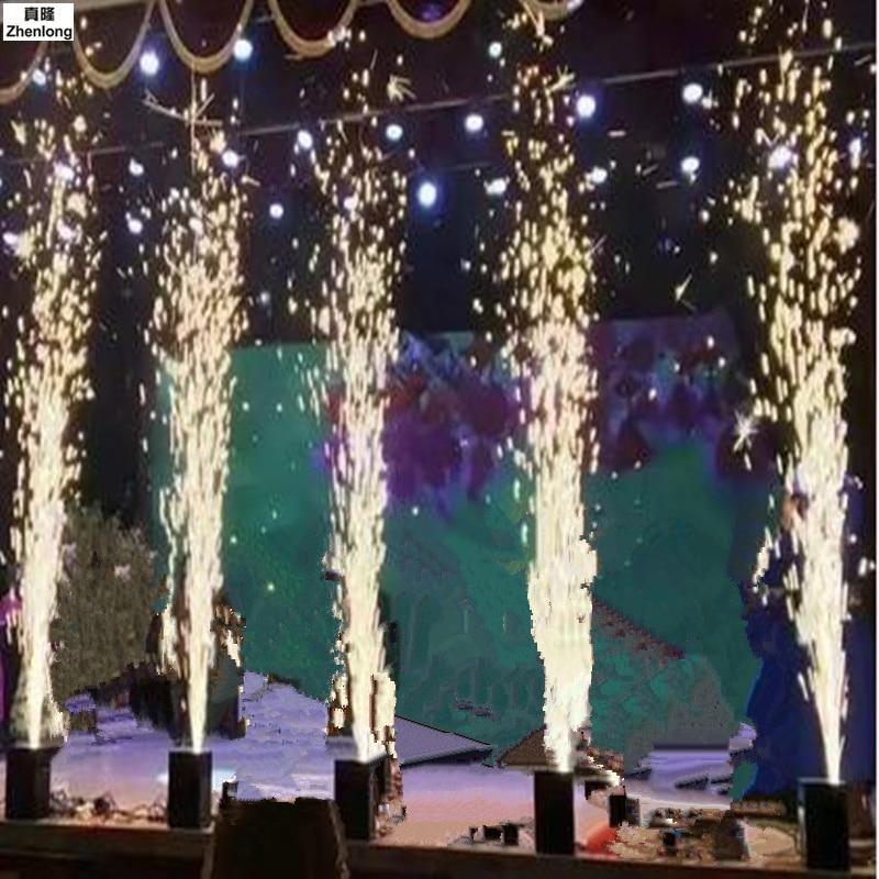 110V 220V Remote Control LED Sprayer Cold Fireworks Wedding Bar Atmosphere Props Stage Lights DMX Electronic Fireworks Machine