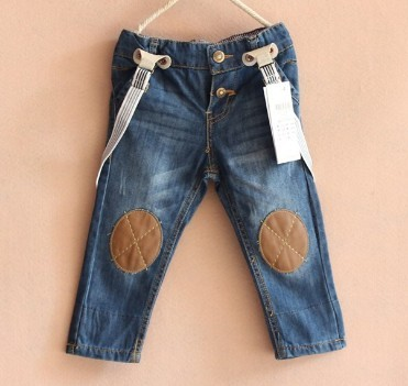 Hot sale big brand kids Braces jeans boys girls kids wear baby overall jeans 100% cotton children trousers Free shipping