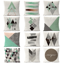 Nordic Gray Gold Copper Geometric Pillow Cover  Marble Stripe Cushion Home Decorative Throw Pillows sofa Covers