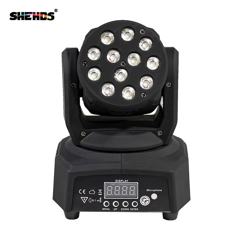 Fast Shipping Mini LED Moving Head Wash 12x3W RGB Stage Lighting For Party DJ Equipment DMX512 Disco Night Lights цена