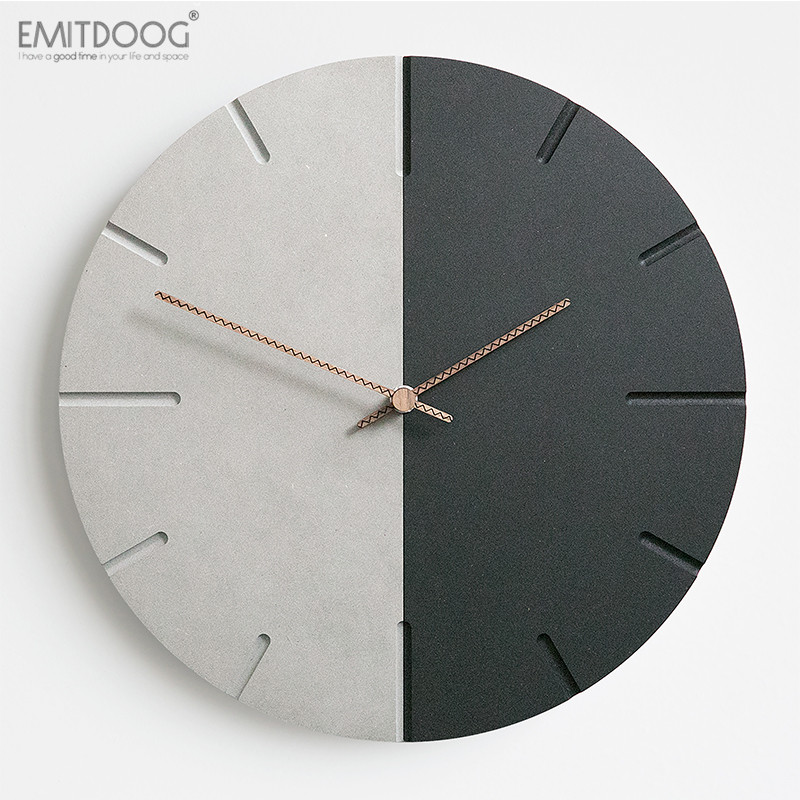 12 Inches EMITDOOG Silent Decorative Wood Watch For Wall Custom Quartz Retro World Time Clock For Living Room