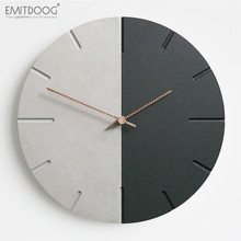 12 inches EMITDOOG Silent Decorative Wood Watch for Wall Custom Quartz Retro World Time Clock Living Room