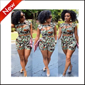 2016 fashion set women two piece outfits pants crop top and hot pants set short sleeve sexy ensemble femme vestidos bodycon
