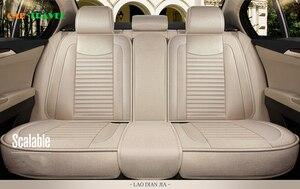 Image 4 - מכונית כיסוי מושב פשתן אוניברסלי מושב כרית רכב סטיילינג עבור סקודה אוקטביה פאביה מעולה ראפיד Yeti Spaceback Joyste Jeti מדבקות