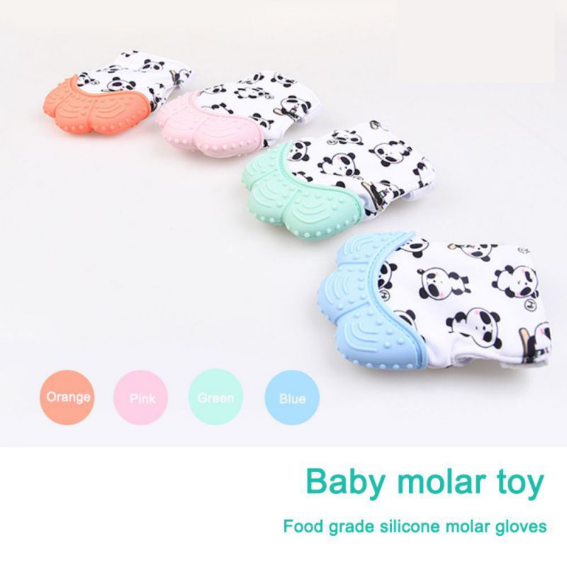 1pcs Food Grade Silicone Infant Teething Gloves Anti-bite Hand New Baby Molar Gloves Teeth Mitt For Newborn Infants
