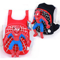 2015 new children cute 3D Spiderman backpack baby schoolbag for boys girls cartoon Spider-man bags Kids Plush mochila infantil