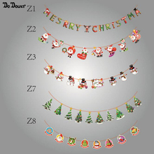 2 8m Christmas Decoration anta Lahua flags new year decoration Santa Snowman parachute flags Christmas decor