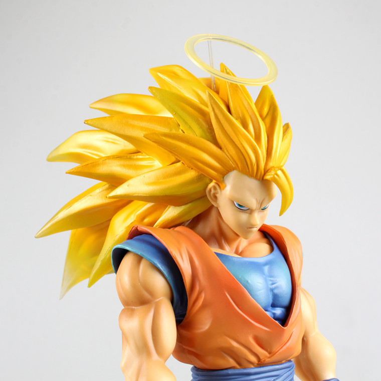 30cm anime Dragon Ball z super saiyan 3 son goku action figure pvc collection Dragon Ball figure model toy doll garage kit anime one piece dracula mihawk model garage kit pvc action figure classic collection toy doll